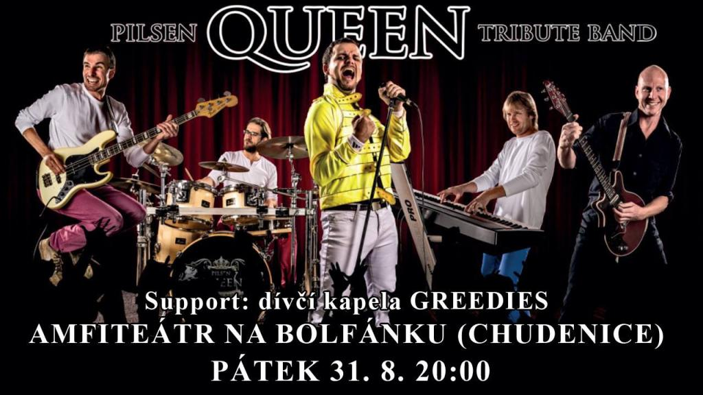 Pilsen QUEEN Tribute band + Greedies 31. 8.